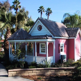 Victorian Tile Roof Playhouse